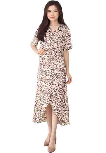 Wrap Dress White Sakura
