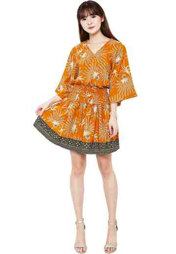 Kimono Dress Orange Imboost