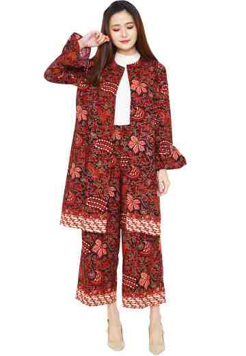 Set Long Coat & Cullote 05 Red Lovers (No Inner)
