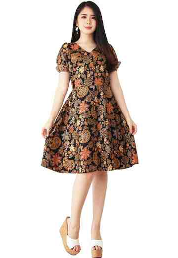 Dress Keynara Motif Syailendra
