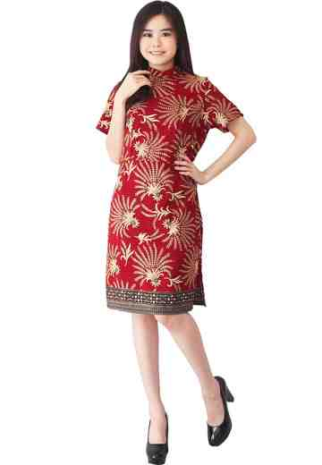Dress Cheongsam Motif Padhi Bara