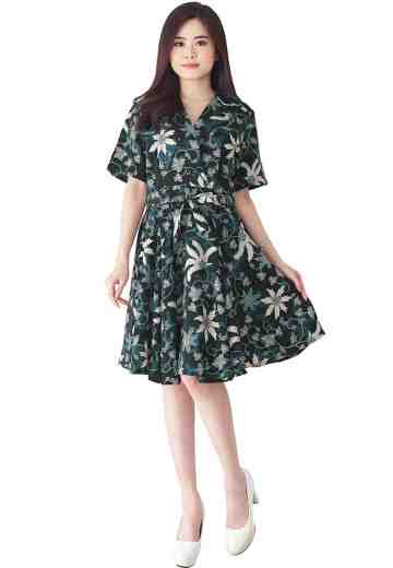 Dress Sulli Motif Sintrong Menyejuk