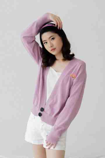 [Preorder] Camille Lilac Cardigan image