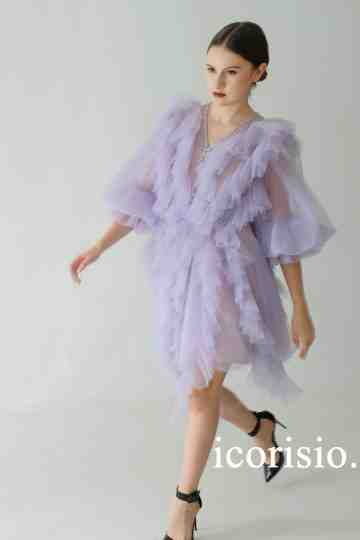 PETRICHOR MINI DRESS - LILAC image