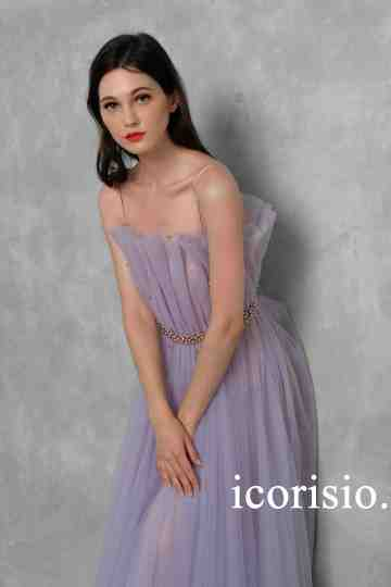 NUTCRACKER MIDI DRESS - LILAC/NUDE image