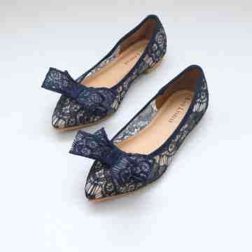 Lace Lynelle Fredella Navy Flatshoes