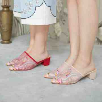 Lace Lynelle Chunky Heels Wei Lai