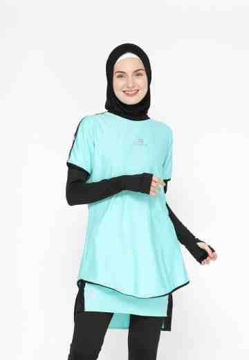 LAMIA NEW OUTER T-SHIRT ICED AQUA