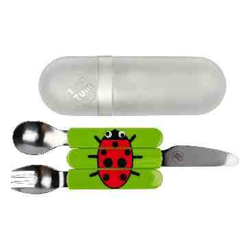 TUMTUM Easy Scoop Childrens Travel Cutlery Ladybird