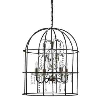 Lumikasa Metal Birdcage Lamp with Glass