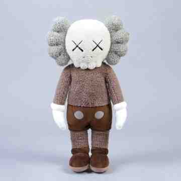 KAWS Plush Companion 2019 Limited Edition Brown