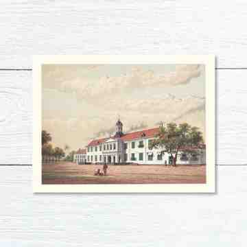 Old East Indies Greeting Card City Hall (Fatahillah) in Batavia