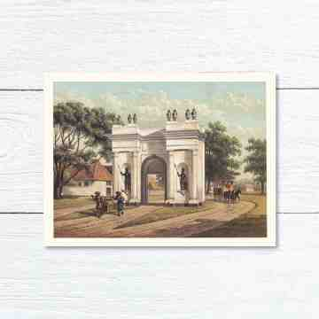 Old East Indies Greeting Card Old City Gate (Pintu Besar) of Batavia