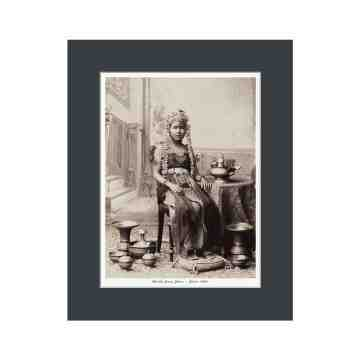 Old East Indies Brides Girl From Indonesia 1880 Cardboard Frame