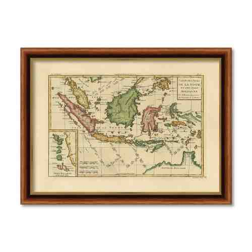 Old East Indies Frame Carte des Isles de la Sonde