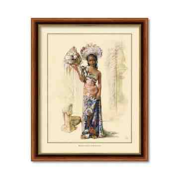 Old East Indies Frame Bali Girl 1