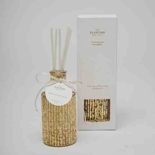Elantier Vintage Gold Bottle Room Diffuser Nenuphar Blanc with Elantier Soft Box