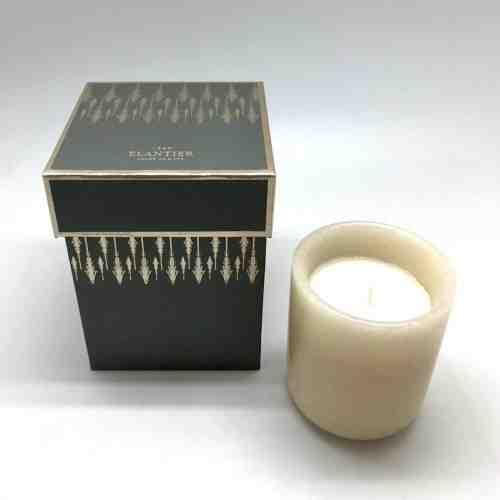 Elantier Scented Candle in Marble Jar with Aria Square Hard Box