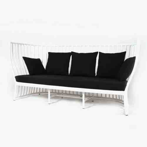 Alvint-T Kiarra White Three Seater Sofa