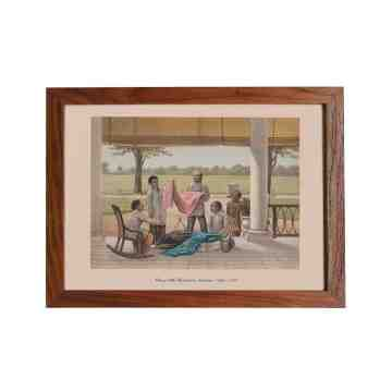 Old East Indies Frame Chinese Silk Merchants In Indonesia - Year 1883