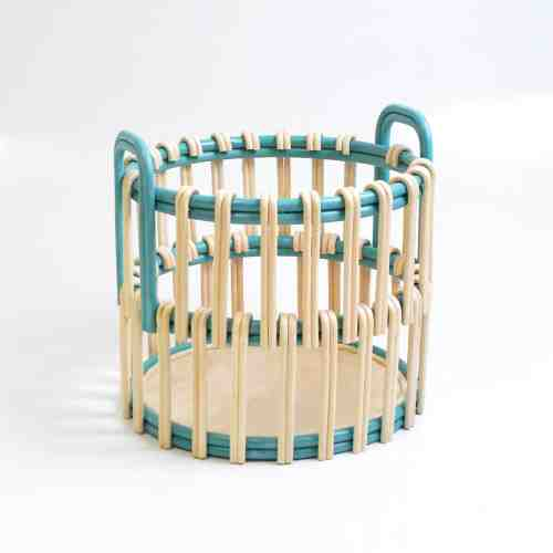 Nine Square Maha Rattan Basket