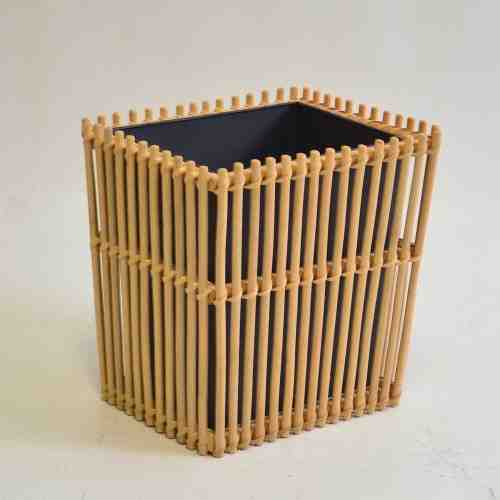 Nine Square Aren Rattan Waste Bin