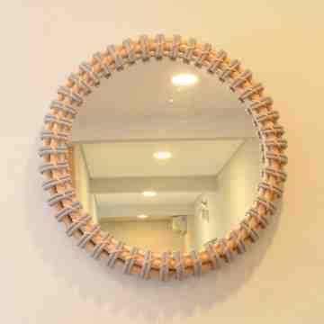 Nine Square Kellan Round Mirror
