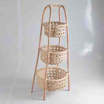 Nine Square Binta Rattan Basket