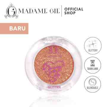 Madame Gie Going Solo Glittery Pressed Eyeshadow - MakeUp
