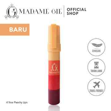 Madame Gie Four Your Peachy Lips - Make Up Lips Four In One