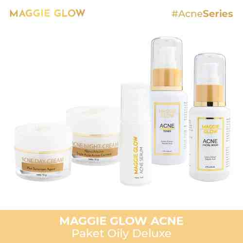 MAGGIE GLOW PAKET ACNE OILY DELUXE