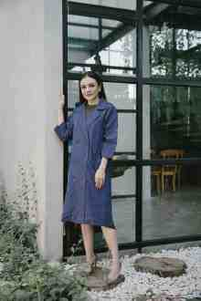 CHRISTINA OUTER-COAT IN TWILIGHT BLUE