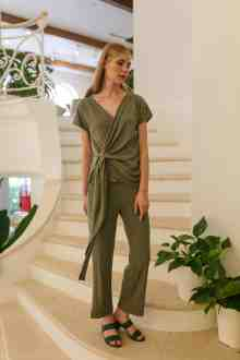 LILLAC HOMEWEAR SET IN OLIVE SAGE