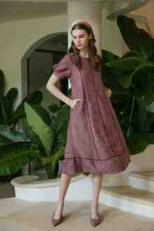 WIDIRA DRESS IN BARN RED