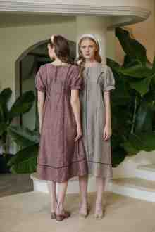 WIDIRA DRESS IN SANDERLING BEIGE