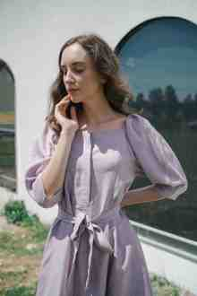 ANITA DRESS IN LILAC