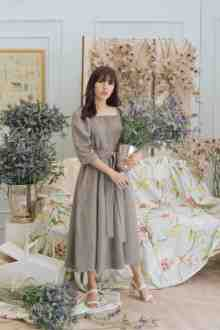 ANITA DRESS IN IRON GREY