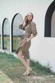JADE DRESS IN TAWNY TWEED (PO END OF DEC)
