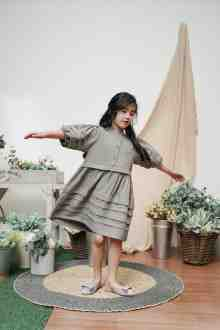 MINI ITTA DRESS IN MATCHA GREEN (po week 2 feb)