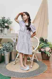 MINI LEIKA DRESS IN FRENCH LILAC