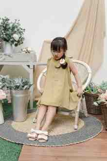 MINI KAERYS DRESS IN FRESH LEMONADE