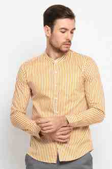 Orient Gold Grandad Stripe Shirt