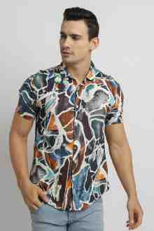 Saga s/s Slim Fit Printing Shirt