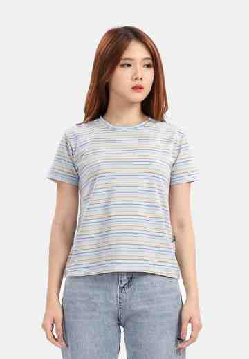 Mix Colour Stripes Blouse in Blue image