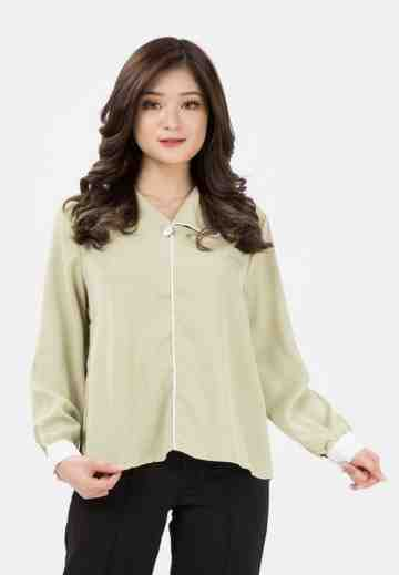 Asymetric Collar Blouse image