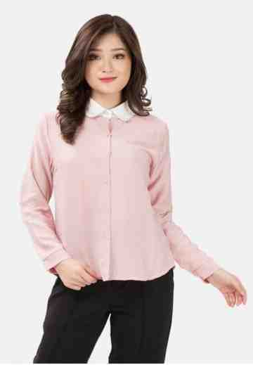 White Collar Long Sleeve Shirt image