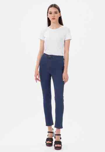 Skinny Jeans High Waist No Pocket in Navy image