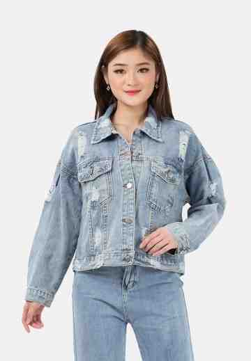 Ripped Denim Jacket image