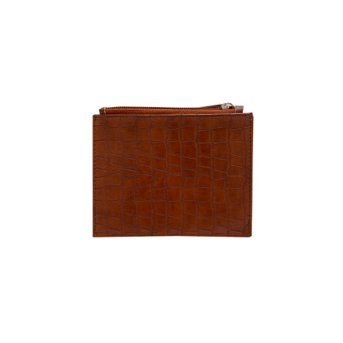 Mini Card Wallet Croco Choco