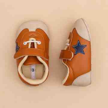 Starry Brown Baby Shoes